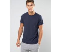 Marineblaues T-Shirt, reugläre Passform Marineblau