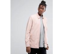 Hemdjacke mit durchgehendem Reißverschluss in Staubrosa Rosa