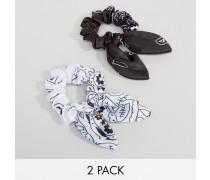 Set mit 2 Bandana-Haarbändern in Monochrom Mehrfarbig