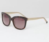 Premium-Sonnenbrille aus Acetat mit Bügeln aus Metall Braun