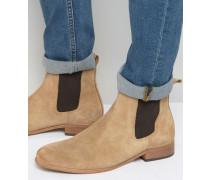 Chelsea-Stiefel aus Wildleder Beige