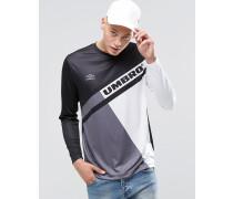 Langärmliges Shirt mit Retroprint Schwarz