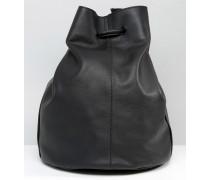 Beuteltasche aus Leder Schwarz