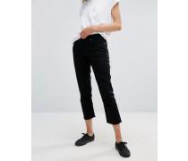 Ami Kurze Boyfriend-Jeans mit mittlerer Bundhöhe Schwarz