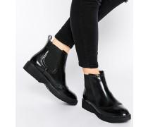 Chelsea Boots im Budapester-Stil Schwarz