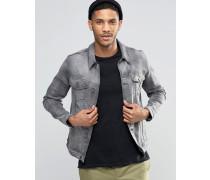 Denim-Jacke mit engem Schnitt in verwaschenem Grau Grau