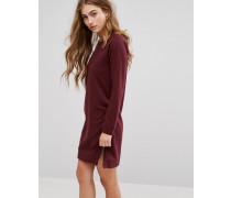 Pulloverkleid mit seitlichen Reißverschlüssen Violett