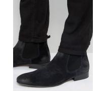 Broker Chelsea-Stiefel aus Wildleder Marineblau