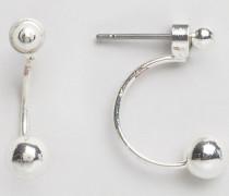 Pinnu Silberbeschichtete Ohrringe aus Sterlingsilber Silber
