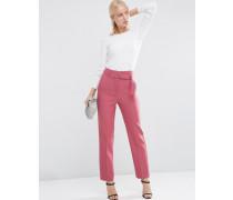 Hose mit hoher Taille und Gürtel Rosa