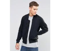 Denim & Supply Ralph Lauren Jersey-Bomberjacke Schwarz