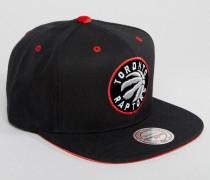 Toronto Raptors Snapback-Kappe mit Velours-Aufnäher Schwarz