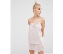Seidiges Pyjama-Set Rosa