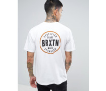 Cowen T-Shirt mit Rückenprint Weiß