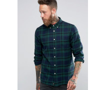 Flanellhemd mit Schottenmuster Grün