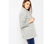 Lang geschnittene Jacke mit Strukturoberfläche Grau