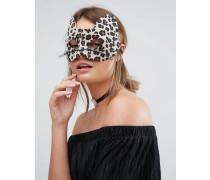 Halloween Leopardenmaske mit Glitzer Mehrfarbig