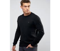 Schwarzer Pullover mit Rundhalsausschnitt Schwarz