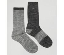 Jeans Geschenkset mit 2er Pack Socken Schwarz