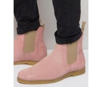 Chelsea-Stiefel aus Wildleder Rosa