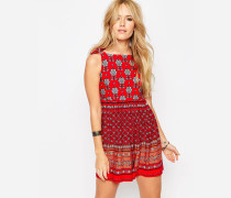 Pinafore-Overall mit Print Mehrfarbig
