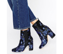 EZRA Hohe Jacquard-Ankle-Boots Gold