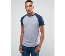 Must Have Schmales Ringer-T-Shirt mit Logo in Grau Grau
