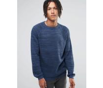 Sweat-Pullover mit Rundhalsausschnitt Blau