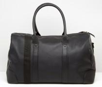 Schwarze Reisetasche aus Leder Schwarz