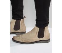 Boxley Chelsea-Stiefel aus Wildleder Bronze