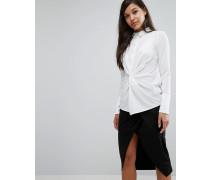 Hemd mit gedrehter Vorderseite Weiß