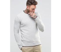 Gering 2-farbiger Pullover Grau