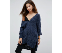 Georgia Pullover mit V-Ausschnitt Marineblau