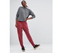 Hose mit schmalem Bein Rot