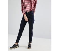 Oki Skinny-Jeans mit hohem Bund Marineblau