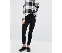Oki Skinny-Jeans mit hohem Bund Schwarz