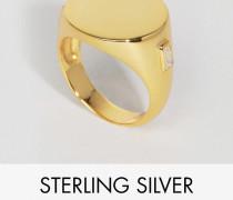 Siegelring aus Sterlingsilber mit Goldbeschichtung Gold