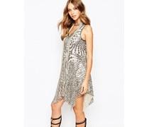 Celestial Kleid mit silbernen Pailletten Silber