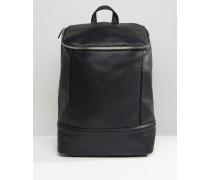 Rucksack mit großem Reißverschluss oben Schwarz