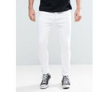 Eng geschnittene, weiße Jeans Weiß