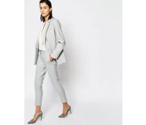 Hochwertige Hose mit schmalem Beinschnitt Grau