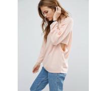 Pullover mit Zierausschnitt an den Seiten Rosa