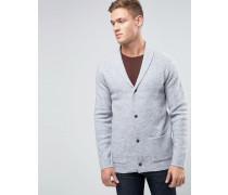 Strickjacke aus Wolle mit V-Ausschnitt Grau