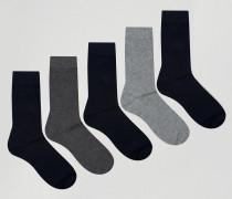 5er Pack Socken Mehrfarbig