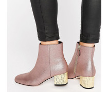 RAND Ankle-Boots mit Absatz Rosa