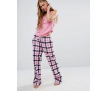 Schlafanzughose aus Flanell Rosa
