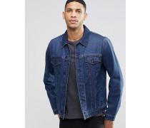 Jeansjacke in schmaler Passform und Indigo-Waschung Blau