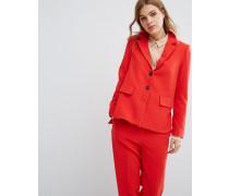 Anzug-Blazer, Kombiteil Rot