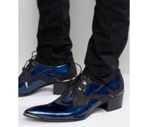 Sylvian Absatzschuhe aus Leder Blau