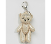 Schlüsselring mit Teddy in Metallic Gold